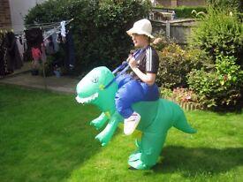Inflatable Dinosaur fancy dress costume - adult size