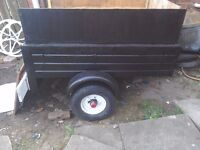 A car trailer ideal camping or diy trailer good surspention