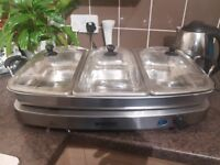 Gourmet electric Triple Buffet Server with Warming Tray, good clean condition and fully working