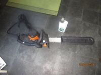 Electric chainsaw.
