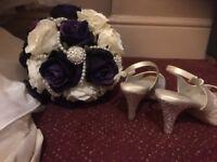 Cadbury purple wedding flowers