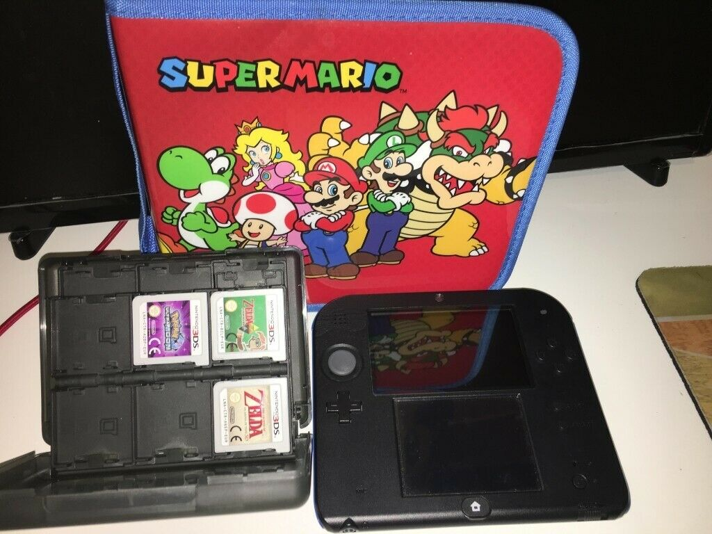 NINTENDO 2DS & Super Mario Bros  2 - Blue & Black + 3 Games | in Cambridge,  Cambridgeshire | Gumtree