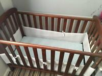 East Coast Anna Dropside Cot in Cocoa