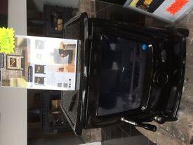 EX DISPLAY BLACK ENAMEL 11.5KW MULTI FUEL STOVE wood burner fireplace stoves no boiler flue pipe