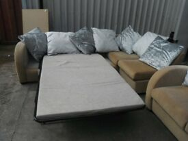 Corner Sofa With Pull Out Bed + 2 Seater - ONLY £180