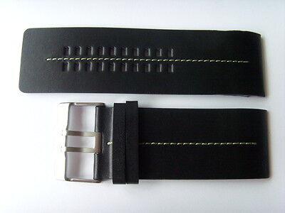 FOSSIL Original Ersatz Lederarmband JR9642 Uhrband watch strap schwarz black (Fossil Schwarz Leder Uhr)