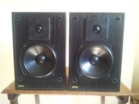 JPW Gold Monitor speakers, Gale 3060b Dipole Surround speakers, Target speaker Stands