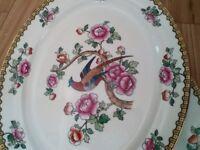 Whieldon ware pheasant design set of 20 pieces