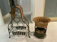 Wine rack and matching basket like new from Spain