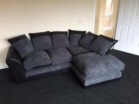 Fabric right corner sofa