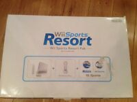 Nintendo Wii Console +MotionPlus + 2 Games Wii Sports + Wii Sports Resort - New, Unused & Boxed Gift