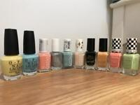 OPI, Essie and Barry M nail varnishes