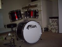Tiger 3 Piece Junior Drum Kit - Red £50 as New with box Buyer to Collect Warwick