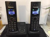 Twin cordless digital phone with answerphone.