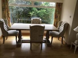 Barker and Stonehouse limed table and 6 chairs