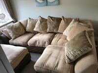 Immaculate corner sofa. Removable covers. Smoke free home, has been in an unused sitting room.