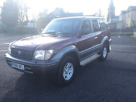 Toyota Landcruiser Colorado r Reg 3.0td 8 seater manual mint 4x4 rust free bargain must go reduced