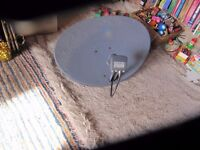 60 cms satellite Dish with cable (Zinwell mk4)