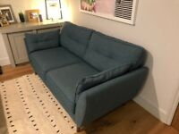 French Connection Zinc Sofa DFS - 3 Seater - Teal