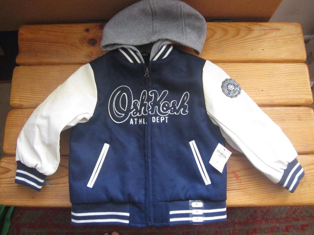 02bb752a8060 Boys OskKosh coat jacket. New with tags. Size 4 years.