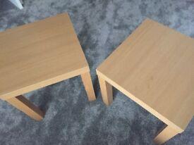 Oak Effect Side Table x 2