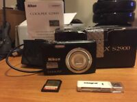 Nikon Coolpix S2900 20mpix camera and accessories