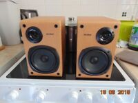 sony speakers model ss-ccp1 in good condition with removable covers