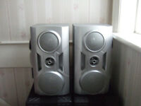Pair of Goodmans 20W RMS 3 Way HiFi Speakers in Good Working Order