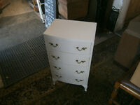 regency style bedside chest of drawers painted shabby chic?