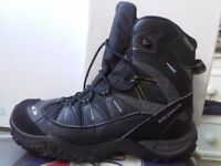 SALOMON BOOTS HIKING TRAIL WINTER Snow Waterproof Thinsulate Contagrip SIZE 7.5UK/41.5 EUR