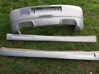 Golf. Mk4 bumper and side skirts.
