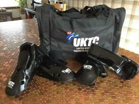 Taekwon-do bag and sparring gear
