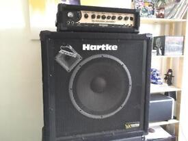 Behringer bass head Ultrabass BX3000T and Harkte bass cab