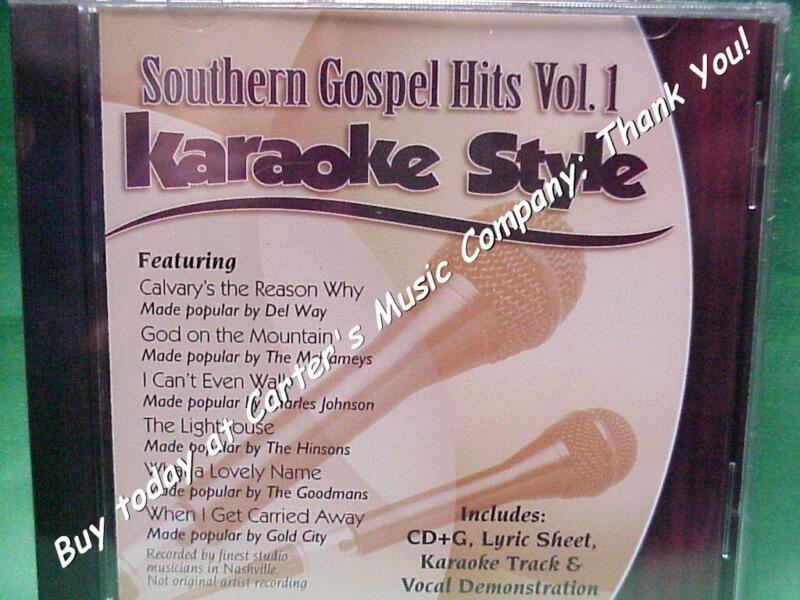Southern Gospel Volume #1  Christian  Daywind  Karaoke Style  CD+G  Karaoke  NEW