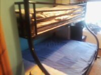 3 person bunk beds for sale , sturdy black steel
