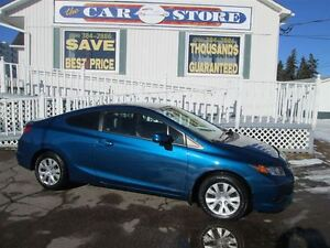 2012 Honda Civic LX 2.0  COUPE!! 5 SPEED MANUAL!! LOWS KMS!! LOA