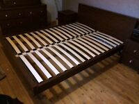 Bed and matching bedroom furniture