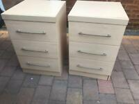 Two matching bed side drawers