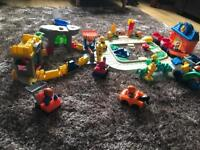 Fisher price little people train set car wash & extras