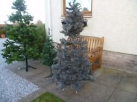 Grey silvered artificial Christmas tree 6ft tall