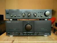 Technics Power amplifier SE-M100 and Preamplifier Technics SU-A40