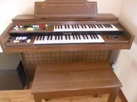 Yamaha Organ With Matching Stool Model B-35 Serial No: 3850 Excellent Condition.