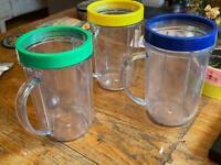 3 Party Mugs / Cups for Original Magic Bullet