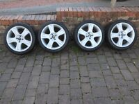 "Mini 17"" Bullet Alloys with nearly new tyres, set of 4"
