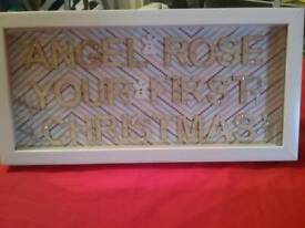 Your first Christmas plaque