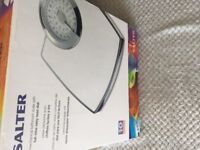 Salter as new weight scales white /chrome £12