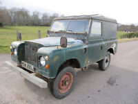 Land Rover Series 2A Fitted with 2.5 Diesel. Years MOT ~ Free Road Tax ~ Sound Chassis and Bulkhead.