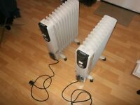 For Sale: Two 2.5kw Portable Oil Filled Heaters