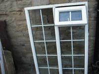 """UPVC glazed window frame with internal Georgian Bar 63"""" H x 41.5"""" W"""