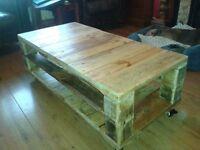 Hinged coffee table